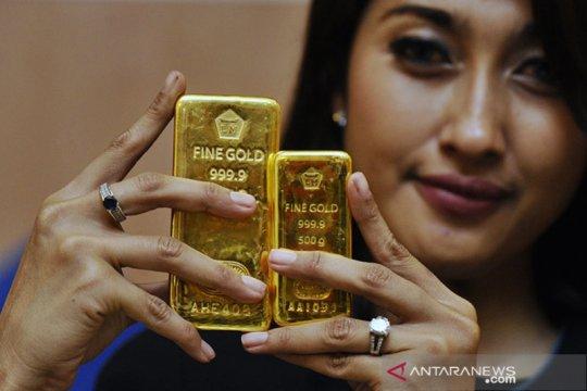 Harga emas Antam anjlok Rp16.000/gram