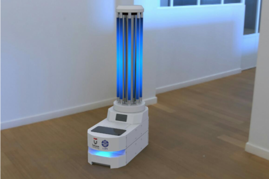 Telkom University ciptakan robot sterilisasi ruang isolasi corona