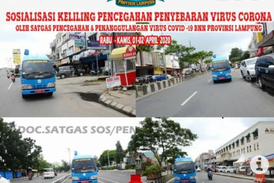 BNN Lampung sosialisasikan pencegahan COVID-19