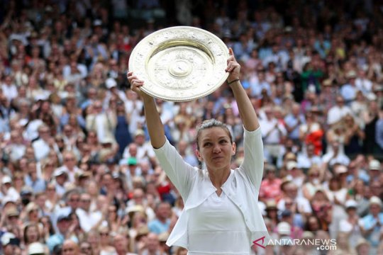 """Wimbledon ditiadakan, Halep """"gembira"""" status juara berlaku dua tahun"""