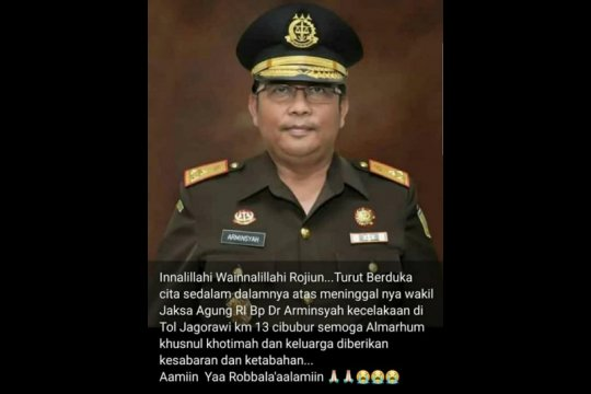 Bambang Sugeng Rukmonojadi ditunjuk sebagai Plt Wakil Jaksa Agung