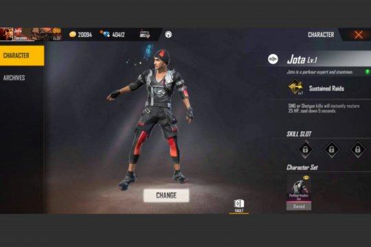 Karakter Jota populer di game Free Fire