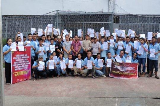 88 narapidana Rutan Tanjung Pura Langkat dibebaskan