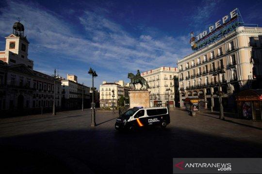 Selama karantina wilayah, udara di Madrid lebih bersih