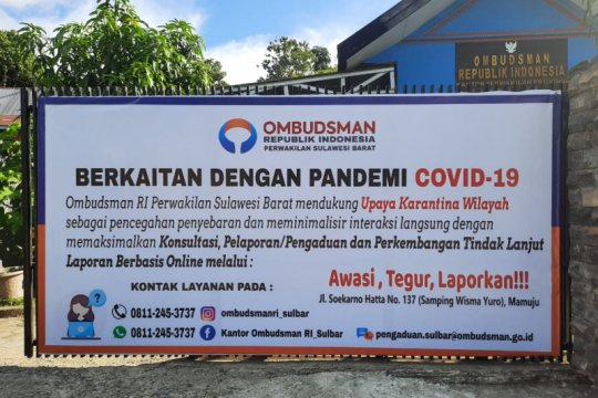 Ombudsman Sulbar dukung karantina wilayah cegah COVID-19