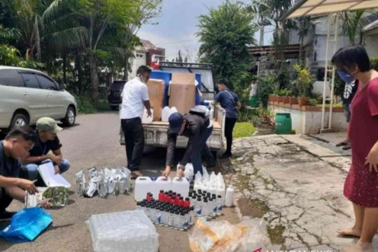 Polres Bekasi ringkus penimbun hand sanitizer
