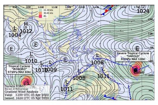 Sejumlah wilayah di Indonesia berpotensi dilanda hujan-angin