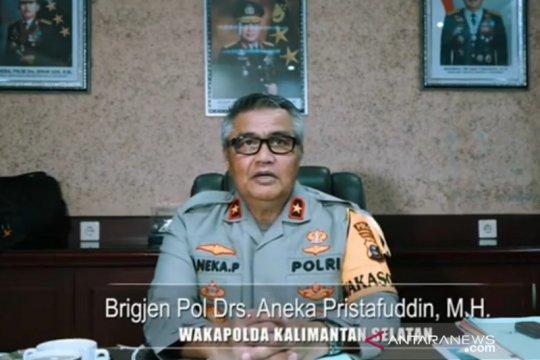 Wakapolda Kalsel ingatkan anggota gunakan masker saat bertugas
