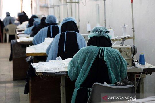 Masker untuk wabah COVID-19 di Sanaa
