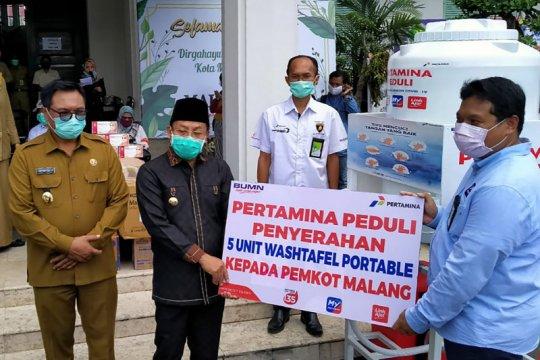 Pertamina tempatkan alat cuci tangan portabel di lima pasar rakyat