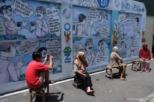 Mural Anti Hoaks di Kampung Hepi