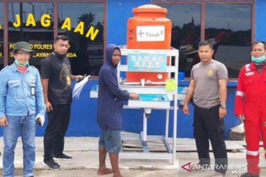 PT Timah bantu instalasi cuci tangan Pelabuhan Pangkalbalam