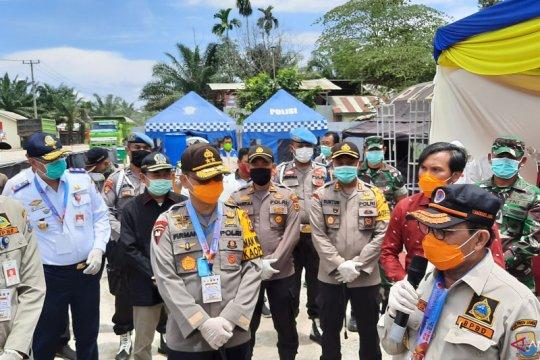 Kapolda kembali periksa posko siaga COVID-19 perbatasan Jambi-Riau
