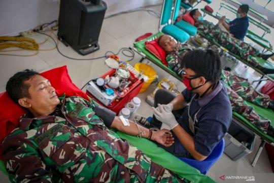 Donor darah TNI di Tangerang
