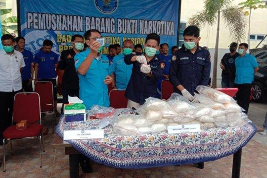 BNN Sumut musnahkan barang bukti 26 kilogram sabu