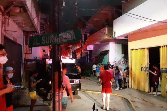 Pasar Sukarela Dalam Jakarta Utara terbakar