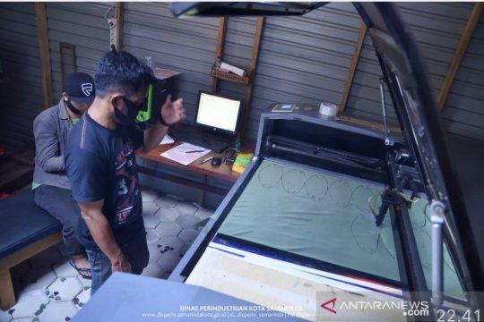 Perusahaan digital printing di Samarinda alih produksi ribuan masker