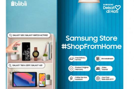 Blibli dan Samsung hadirkan layanan belanja dari rumah