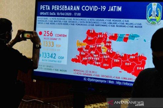 Gubernur: 63 dari 256 pasien positif COVID-19 di Jatim sembuh