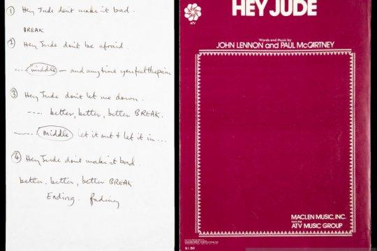 """Tulisan tangan Paul McCartney untuk """"Hey Jude"""" laku Rp14 miliar"""