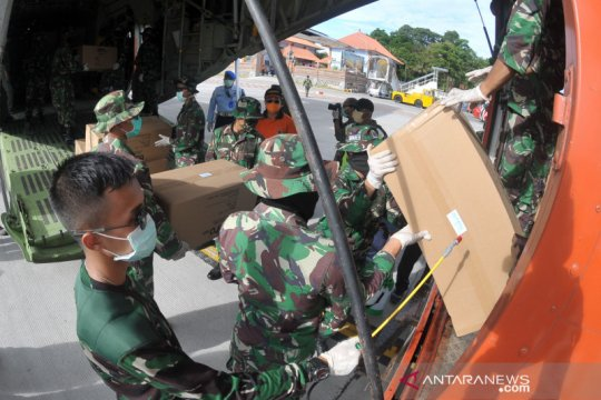Ribuan alat kesehatan penanganan COVID-19 tiba di Bali