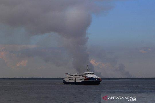 Kebakaran hutan di Pulau Rupat