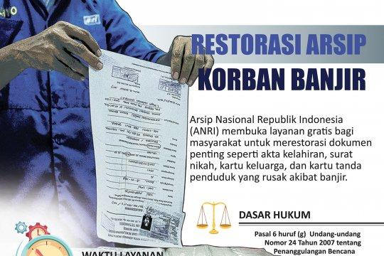 Restorasi arsip untuk korban banjir