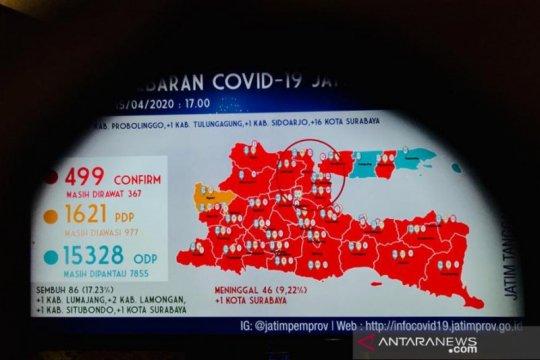 Pasien positif COVID-19 di Jatim menjadi 499 orang
