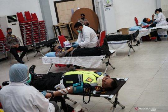 Donor darah massal Polda Kalteng