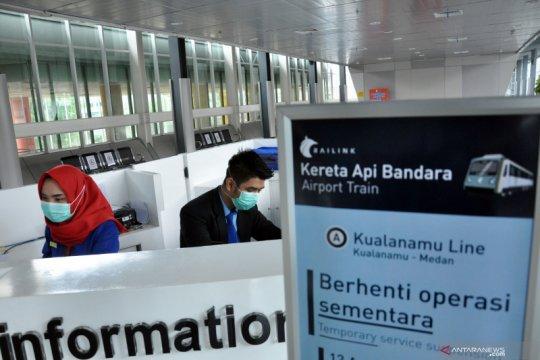 Kereta api Bandara Kualanamu berhenti operasi sementara