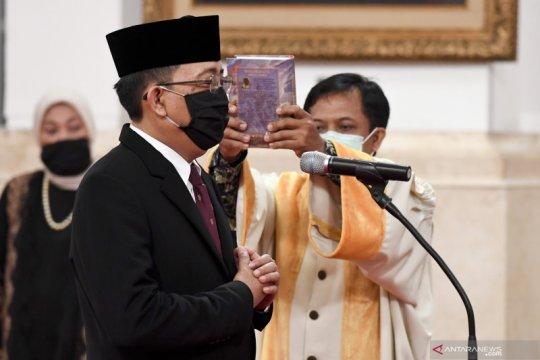 Pelantikan Komisioner KPU pengganti Wahyu Setiawan