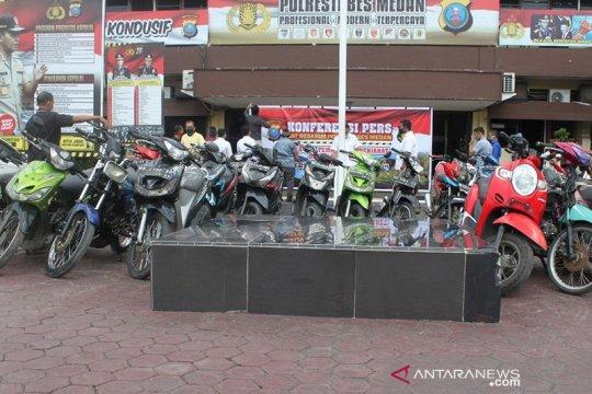Razia geng motor, Polrestabes Medan amankan 30 sepeda motor