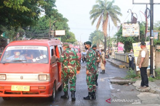 Pelanggar PSBB di Bekasi dapat blangko teguran