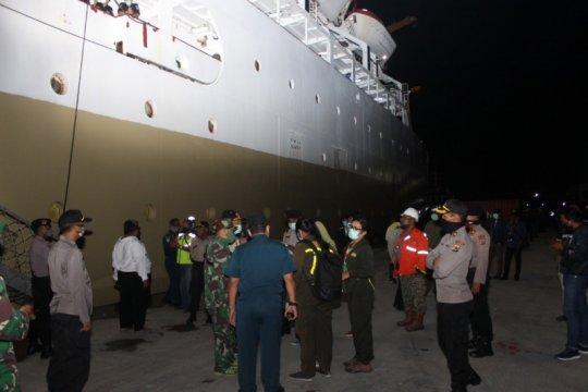 Polres Biak jaga ketat bongkar muat barang Kapal KM Ciremai