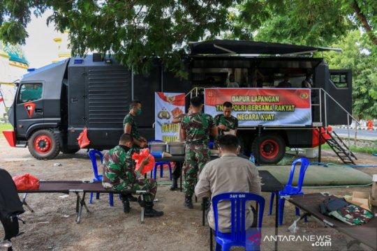 Polda NTB dirikan dapur lapangan di Masjid Islamic Center, bantu warga