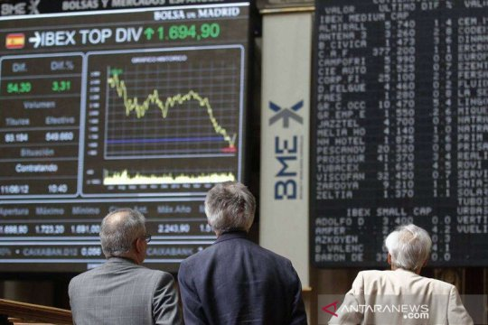 Saham Spanyol naik tajam dengan indeks IBEX 35 terdongkrak 2,46 persen