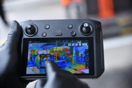 Ditlantas Polda Jawa Tengah gunakan drone thermal pantau pemudik