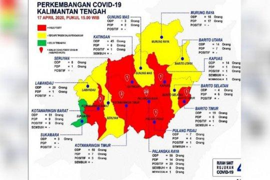 Zona merah kasus positif COVID-19 di Kalteng meluas