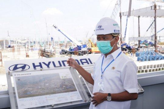 Kunjungi Hyundai, Bahlil ingin pastikan investasi sesuai rencana