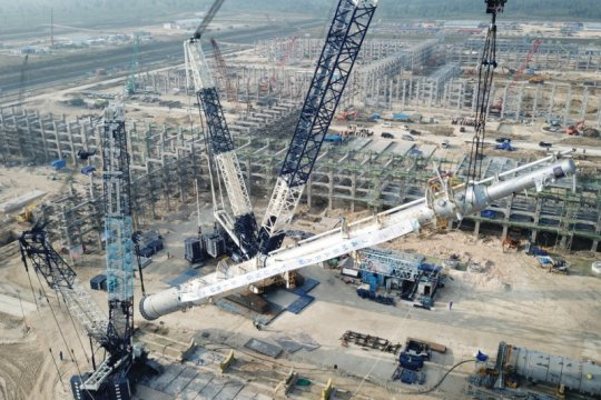 Perusahaan konstruksi nasional angkat alat berat di proyek gas JTB