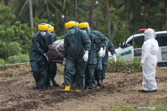 Kasus meninggal COVID-19 di Sulut naik empat kali lipat pada Agustus