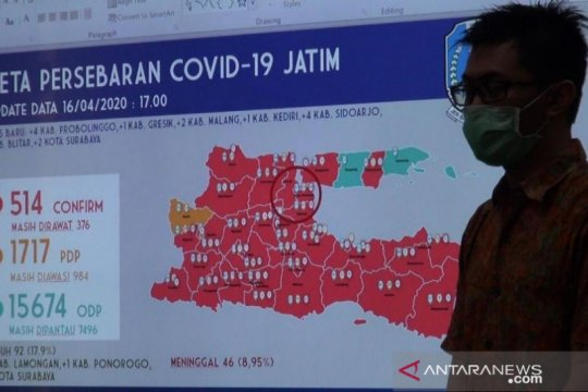 Pemprov Jatim koordinasi ke daerah bahas PSBB