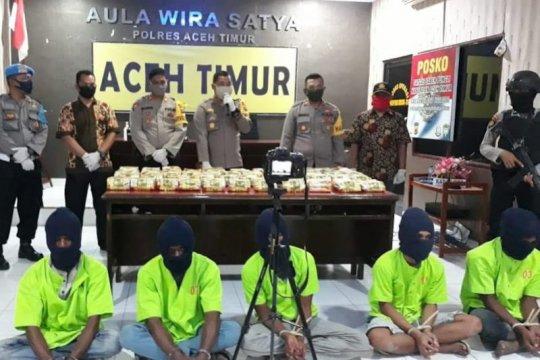 Polisi gagalkan peredaran 45 kilogram sabu-sabu di Aceh Timur