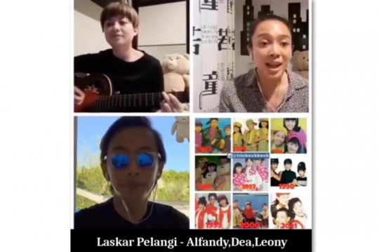 """Trio Kwek Kwek reuni lewat lagu """"Laskar Pelangi"""""""
