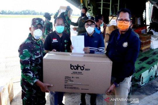 Kalteng terima 3.000 APD diangkut menggunakan pesawat TNI AU