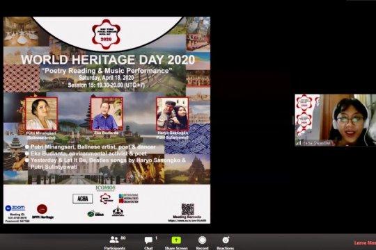 Peringatan World Heritage Day 2020 dilakukan secara online