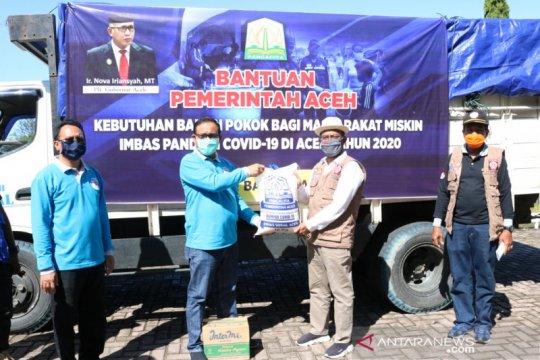 913 warga miskin Kabupaten Aceh Barat terdampak terima bantuan sembako