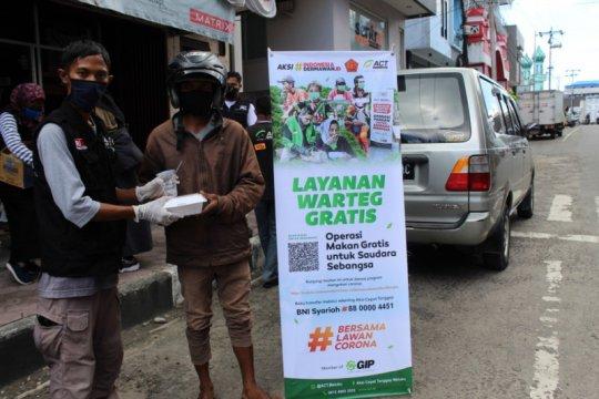 ACT-MRI Maluku operasi makan gratis untuk pekerja harian di Ambon