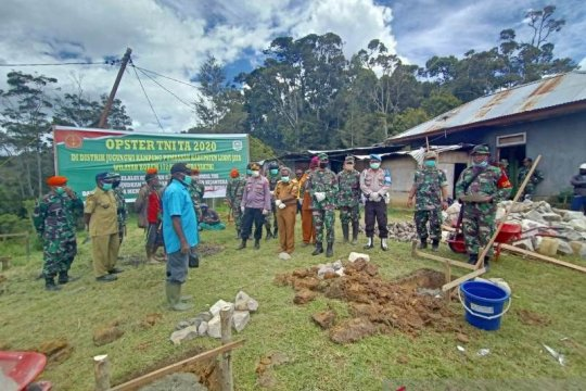TNI bangun sejumlah fasilitas umum di Lanny Jaya