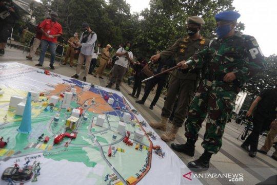 Polisi kerahkan 4.497 personel selama PSBB Bandung Raya